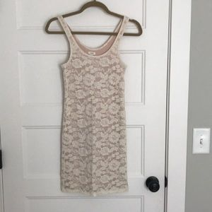 LACE CREAM DRESS FROM AERIE